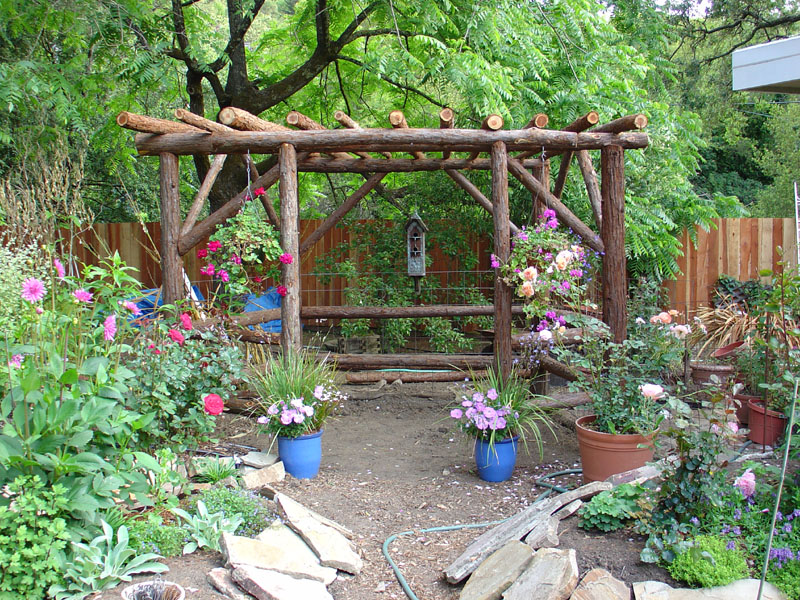 Rustic Backyard Decorating Ideas : Rustic Garden Design Ideas Picture